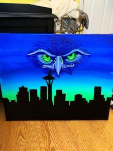 Seattle Seahawks Logo/Skyline
