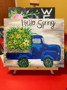 Rustic Spring Truck