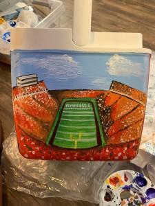 Neyland Stadium cooler painting