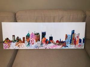 Multicolored Detroit Skyline
