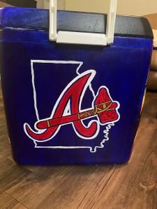 Atlanta Braves Logo cooler painting