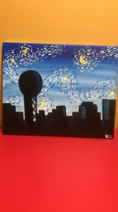 Van Gogh's Take on Knoxville Skyline